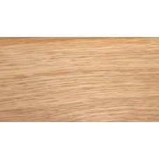 Плинтус деревянный DL Profiles 027 Дуб селект Глянец 75мм 2.4м