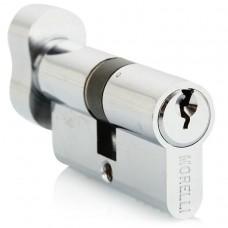 Ключевой цилиндр c поворотной ручкой 60 мм Morelli 60CK PC