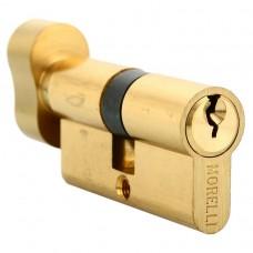Ключевой цилиндр с поворотной ручкой 70 мм Morelli 70CK PG