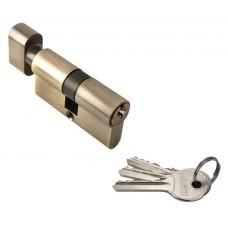 Ключевой цилиндр c поворотной ручкой 60 мм Rucetti R60CK AB