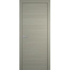 Межкомнатная дверь Мебель-Массив Некст 1 Эмаль RAL 7044 на дубе шпон горизонтальный полотно глухое