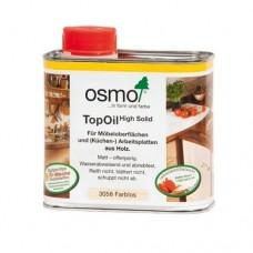 Масло OSMO 3028 с твердым воском для мебели и столешниц TopOil Бесцветное шелковисто-матовое 0,5 л