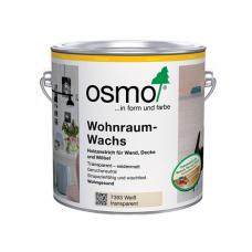 Воск OSMO 7393 для внутренних работ шелковисто-матовый Wohnraum-Wachs Белый прозрачный 0,75л
