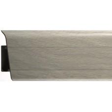 Плинтус из ПВХ Royal Дуб светло-серый 270 - 2500 x 76 x 23 мм