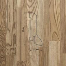 Плинтус Polarwood Ash Beige (Ясень Бежевый) шпон 22 x 60 мм