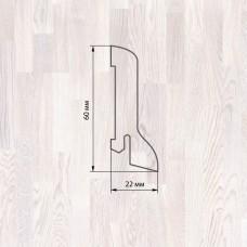 Плинтус Polarwood Ash Lacquered White (Ясень Белый лак) шпон 22 x 60 мм
