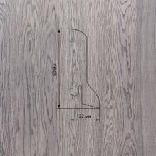 Плинтус Polarwood Oak Grey (Дуб Серый) шпон 22 x 60 мм