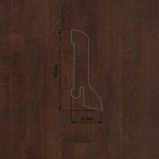 Плинтус Polarwood Oak Lacquered Dark Brown (Дуб Темно-коричневый лак) шпон 22 x 60 мм