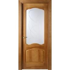 Межкомнатная дверь Свобода 781 Орех 06.01 полотно c полотно с осеклением вид стекла ст.6 коллекция Valdo