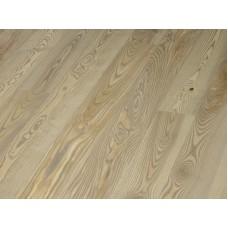 Паркетная доска Timberwise коллекция Однополосная Ясень оливковый Глина Серый брашированный